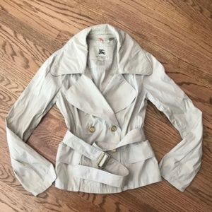 Burberry short trench jacket